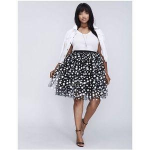 Lane Bryant polkadot skirt
